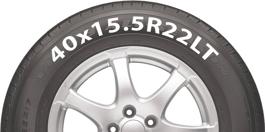 40x15.5R22LT tire example
