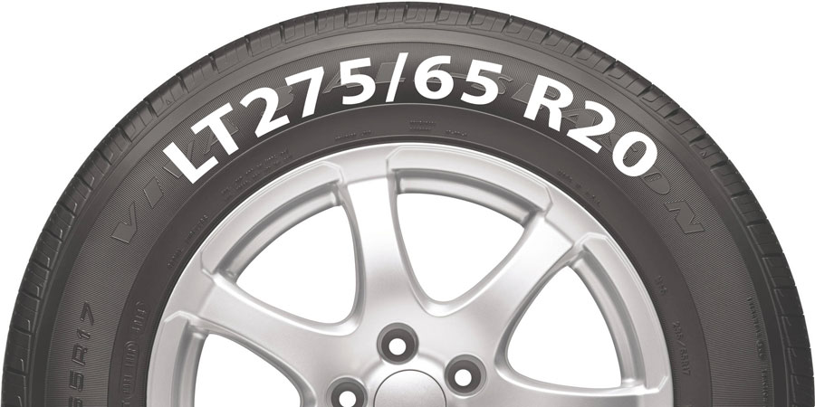 LT275/65 R20 tire example